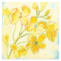 Yellow Flower and Blue Canvas Wall Art - www ...