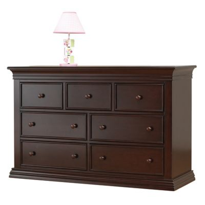 Sorelle Torino 7Drawer Double Dresser in Cherry  Bed Bath  Beyond