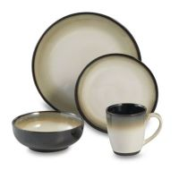 Buy Nova Black 16-Piece Dinnerware Set by Sango from Bed ...