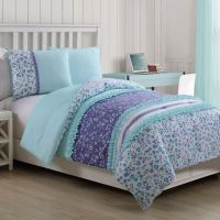 Cameron Reversible Comforter Set in Blue - Bed Bath & Beyond
