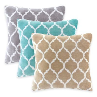 Madison Park Ogee Reversible Square Throw Pillow Bed