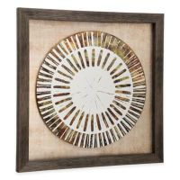 StyleCraft Weathered Plate Framed Wall Art in Gold - Bed ...