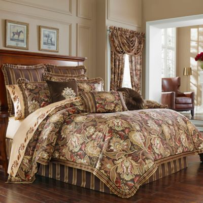J Queen New York Coventry Comforter Set in Brown  Bed