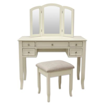 Charlotte 2Piece Vanity Set with Power Strip and USB  Bed Bath  Beyond