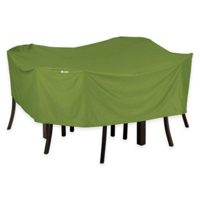 green patio chair covers floor mat for under high buy furniture bed bath beyond classic accessories sodo square table and cover in