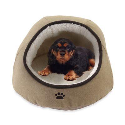 Precious Tails Felt Paw Embroidered Dome Pet Bed  wwwBedBathandBeyondcom