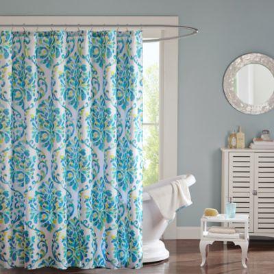 Intelligent Design Ari Shower Curtain In Aqua WwwBedBathandBeyondcom