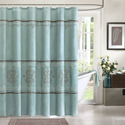 Madison Park Brussel Shower Curtain in Blue  Bed Bath  Beyond