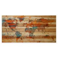 Buy Global Warming Natural Pine Wood Wall Art from Bed ...