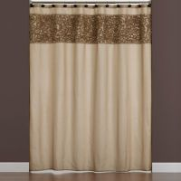 Buy Ruffle Border Fabric Shower Curtain from Bed Bath & Beyond