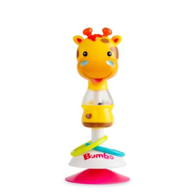 high chair suction toys revolving in vadodara for chairs buybuy baby bumbo gwen giraffe toy yellow