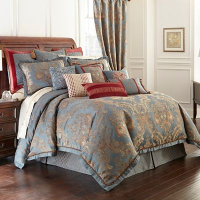 Waterford Linens Dunham Reversible Comforter In Glacier