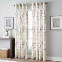 Botanical Print Grommet Top Window Curtain Panel - Bed ...