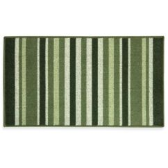 Green Kitchen Rug Island And Stools Buy Rugs Bed Bath Beyond Bacova Striped Ivy 22 4 Inch X 40 Berber In