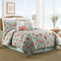 Buy Coastal Life Luxe Coral Reversible Full Comforter Set ...