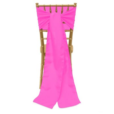 neon pink chair shower on wheels for disabled buy cover bed bath beyond basic polyester ties in