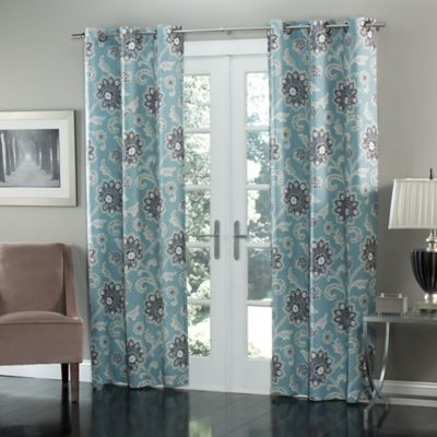mstyle Ankara 84Inch Grommet Top Window Curtain Panel