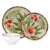 Hibiscus Palm Dinnerware - Bed Bath & Beyond