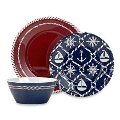 Nautical Melamine Dinnerware