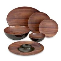 Phocacia Melamine Dinnerware Collection in Brown - Bed ...