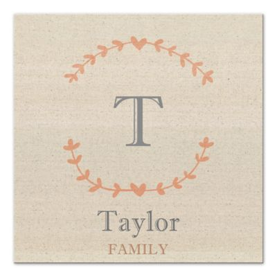 Buy Family Name Canvas Wall Art from Bed Bath & Beyond