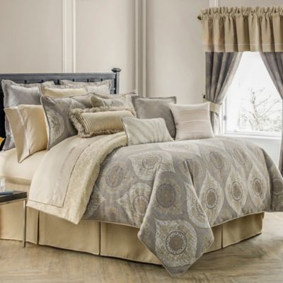 Waterford Linens Marcello Reversible Comforter Set  Bed