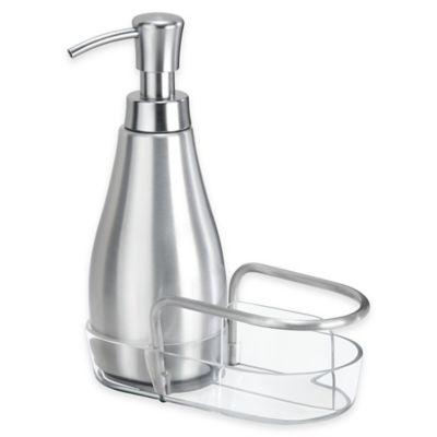 kitchen dish soap dispenser faucet kohler buy bed bath beyond interdesign metro aluminum