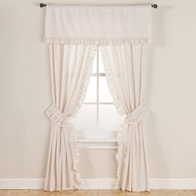 Buy Smoothweave 63 Inch Eyelet Rod Pocket Window Curtain Panels With Tie Backs In Ivory From