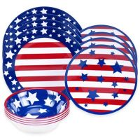 Buy Certified International Stars and Stripes 12-Piece ...