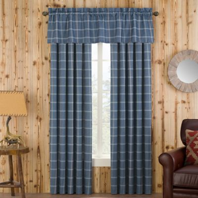 kitchen window treatments ideas design your online branklyn plaid curtain panel and valance - bed bath ...