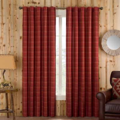 Buy Red Plaid Curtains From Bed Bath & Beyond