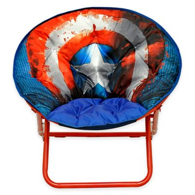 personalized kids chair steel tent house marvel® captain america adult saucer - bed bath & beyond