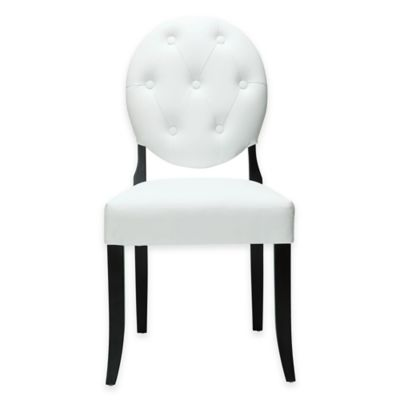 white tufted chair ergonomic for tall person buy bed bath beyond modway casper dining side in