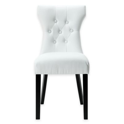 white tufted chair cover for buy bed bath beyond modway silhouette dining side in