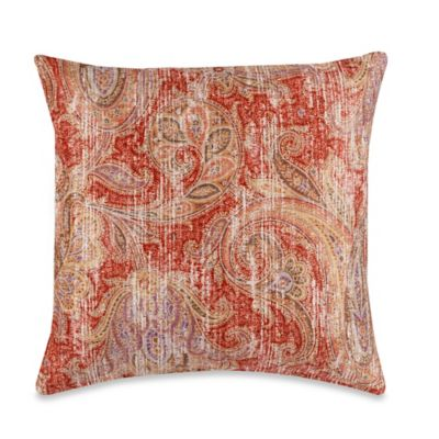 Glennifer Square Throw Pillow in Rust  Bed Bath  Beyond