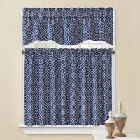 Waverly Lovely Lattice Kitchen Window Curtain Tiers and ...