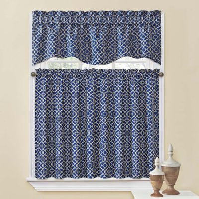 waverly kitchen curtains drop leaf table chairs waverly® lovely lattice window curtain tiers and ...