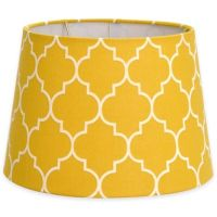 Buy Flocked Linen Small 7-Inch Lamp Shade in Yellow/White ...