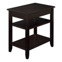 3-Tier Accent Table with USB Power Ports in Espresso - Bed ...