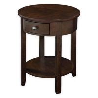 Buy Round End Table with Drawer and USB Power Ports in ...