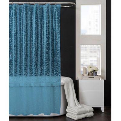 Pebbles 70Inch x 72Inch PEVA Shower Curtain in Aqua Blue  Bed Bath  Beyond