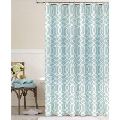 Megan Shower Curtain In Aqua Bed Bath Amp Beyond
