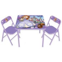 Buy Sofia the First 3-Piece Activity Table and Chairs from ...