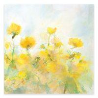 Yellow Flowers Canvas Wall Art - www.BedBathandBeyond.com
