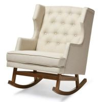 Baxton Studio Iona Button-Tufted Wingback Rocking Chair ...