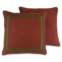 Croscill Horizons European Pillow Sham in Red/Brown - Bed ...