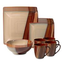 Sango Avanti Brown 16-Piece Dinnerware Set - Bed Bath & Beyond