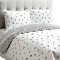 Dance Reversible Duvet Cover Set in White - Bed Bath & Beyond