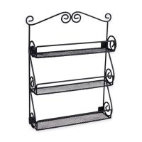 Buy Scroll Wall Mount Nail Polish Holder in Black from Bed ...
