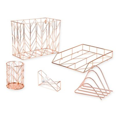 Copper Wire Desk Accessories  Bed Bath  Beyond